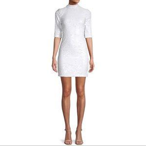 A+O Inka Sequin Dress White